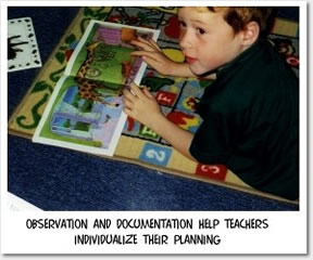 Observation and documentation help teachers individualize their planning